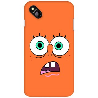 G.store Printed Back Covers for Micromax Bolt D303 Orange