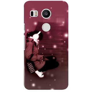 G.store Printed Back Covers for LG Google Nexus 5X Brown