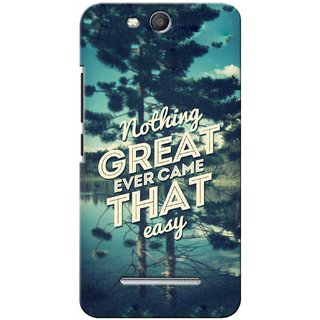 G.store Printed Back Covers for Micromax Canvas Juice 3 Q392 Green