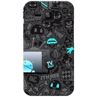 G.store Printed Back Covers for Micromax Bolt S301 Black