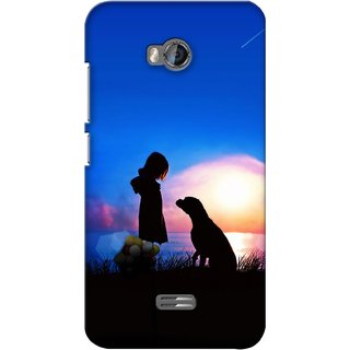 G.store Printed Back Covers for Micromax Bolt Q336 Blue