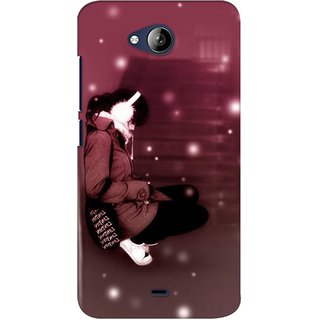 G.store Printed Back Covers for Micromax Canvas Play Q355 Brown