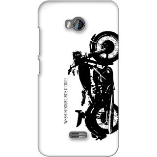 G.store Printed Back Covers for Micromax Bolt Q336 White