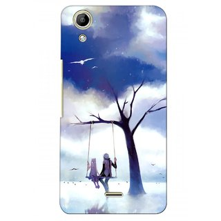 G.store Printed Back Covers for Micromax Canvas Selfie Lens Q345  Blue