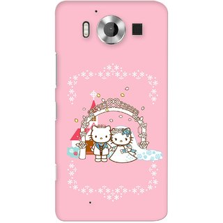 G.store Printed Back Covers for Microsoft Lumia 950  Pink