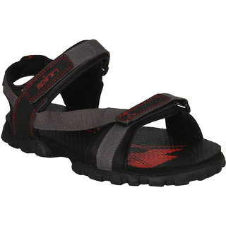 Spinn Fun MenS Black,Red Floaters