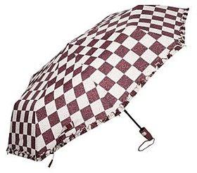 Maroon Chexx 3 fold Umbrella