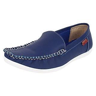Jack Wood MenS Blue Formal Slip Onshoes