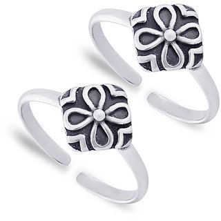 e878925cd Buy Taraash 925 Sterling Silver Floral Toe Ring For Women LR1037A ...