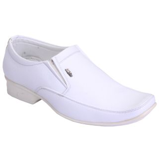 Shoebook MenS White Formal Shoes Slip On