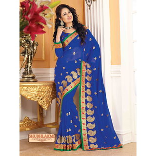 Sonal Multicolor Chiffon Self Design Saree With Blouse