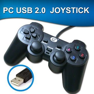 Laptop Analog Joystick Double Shock Vibration/USB GamePad to Play Games for  PC