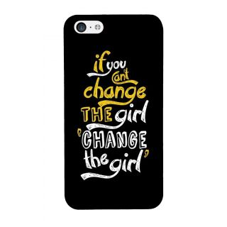 G.store Printed Back Covers for Apple iPhone 5C Black