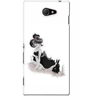 G.store Printed Back Covers for Sony Xperia M2 White