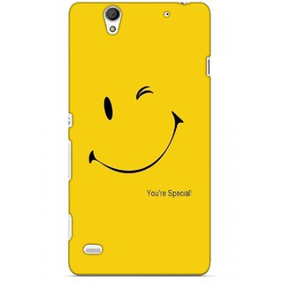 G.store Printed Back Covers for Sony Xperia C4 Yellow