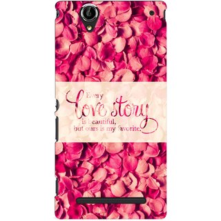 G.store Printed Back Covers for Sony Xperia T2 Ultra Red
