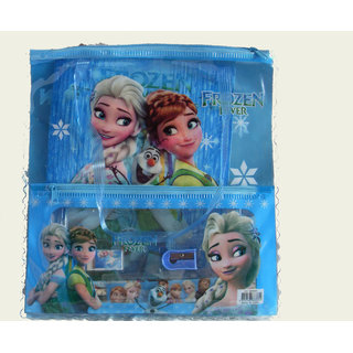 FROZEN BAG WITH FROZEN 5 IN 1 STATIONARY SET