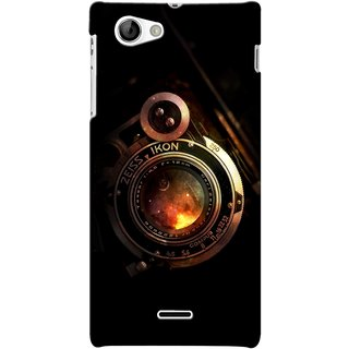 G.store Printed Back Covers for Sony Xperia J Black