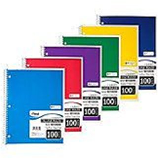 Set of 6 Chevron Composition Notebooks (100 Page College Ruled Non-Punched 9.75 X 7.25)