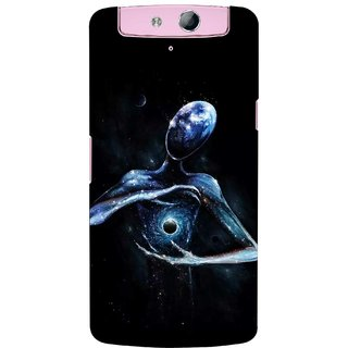 G.store Printed Back Covers for Oppo N1 mini  Black