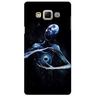 G.store Printed Back Covers for Samsung Galaxy A7 Black