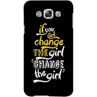 G.store Printed Back Covers for Samsung Galaxy A5  Black