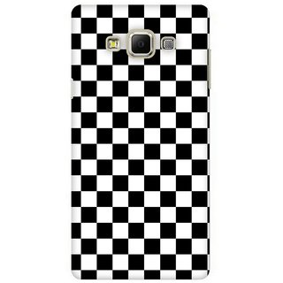 G.store Printed Back Covers for Samsung Galaxy E7 Black