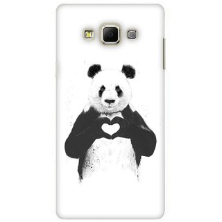 G.store Printed Back Covers for Samsung Galaxy E7 White