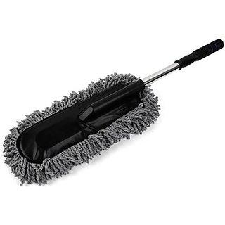 uneestore car wet/dry cleaning microfibre duster detachable handle
