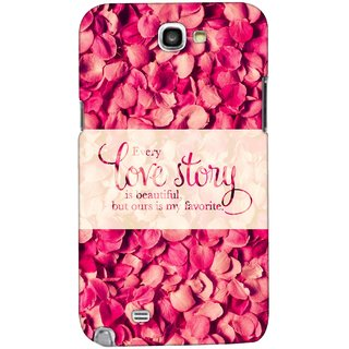 G.store Printed Back Covers for Samsung Galaxy Note 2 Red