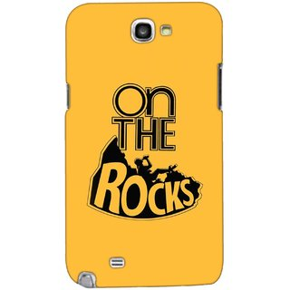 G.store Printed Back Covers for Samsung Galaxy Note 2 Yellow