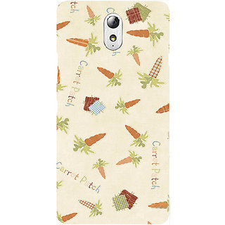 Casotec Vegetables Drawing Design Hard Back Case Cover for Lenovo Vibe P1M
