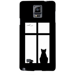 G.store Printed Back Covers for Samsung Galaxy Note 4 Black