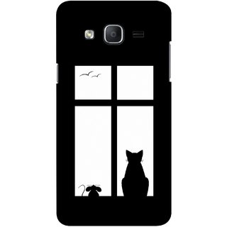 G.store Printed Back Covers for Samsung Galaxy On7  Black