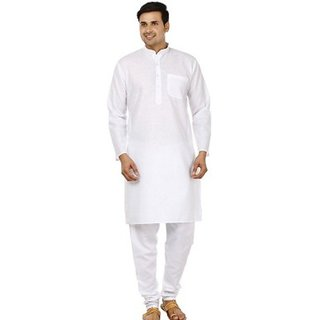 Pure cotton White Kurta Pyjama set