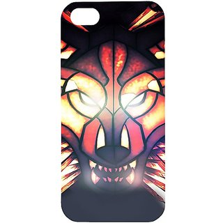 Casotec Wolf Flash Anger Design Hard Back Case Cover for Apple iPhone 5 / 5S