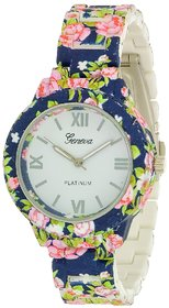 Geneva kds Colourful Flora Women Watch