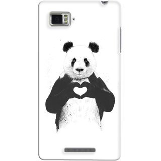 G.store Printed Back Covers for Lenovo Vibe Z K910 White