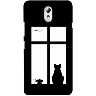 G.store Printed Back Covers for Lenovo Vibe P1m Black