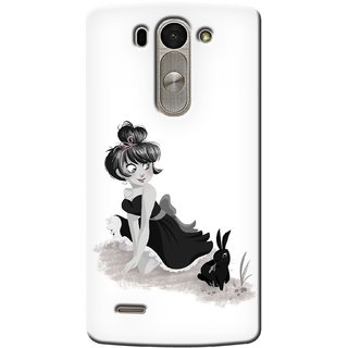 G.store Printed Back Covers for LG G3 Beat White
