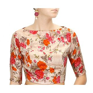 Fabboom New Latest Multi Colour Floral Printed Designer Blouse
