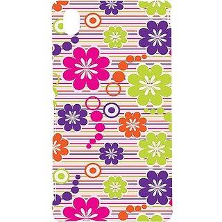 Casotec Colorful Background Design Hard Back Case Cover for Sony Xperia M4 Aqua