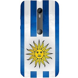 Casotec Uruguay Symbol Design Hard Back Case Cover for Motorola Moto G 3rd Generation