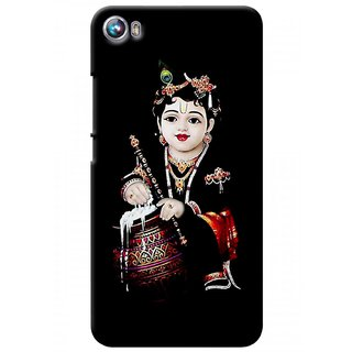 G.store Printed Back Covers for Micromax Canvas Fire 4 A107 Black