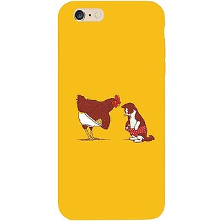 Casotec Chicken Cat Drawing Design Hard Back Case Cover for Apple iPhone 6 Plus / 6S Plus