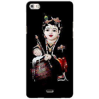 G.store Printed Back Covers for Micromax Canvas 5 Q450 Black