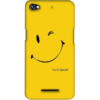 G.store Printed Back Covers for Micromax Canvas Hue 2 A316  Yellow