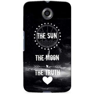 G.store Printed Back Covers for Motorola Google Nexus 6 Black