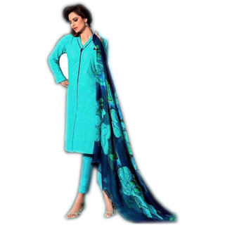 Blue Embroidered Pakistani Style Straight Suite