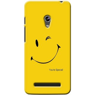 G.store Printed Back Covers for Asus Zenfone 5 Yellow